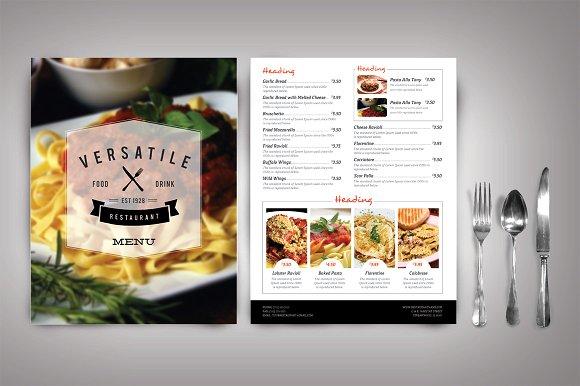 restaurant menu design tool