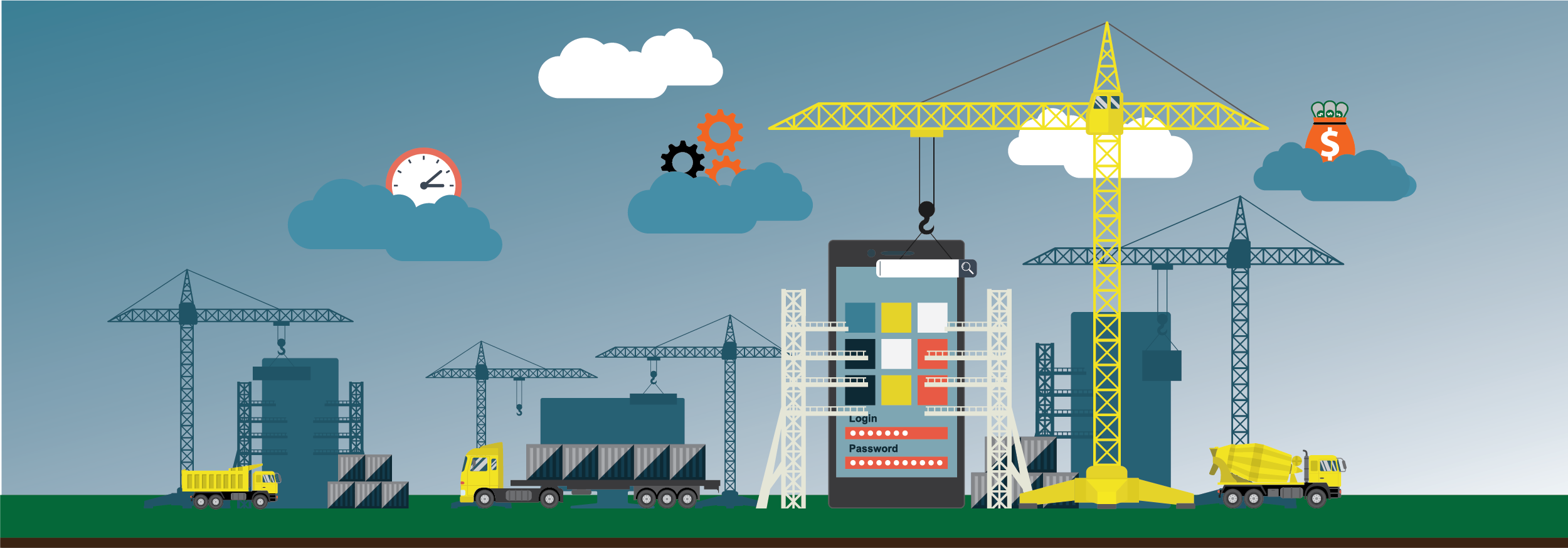 Goods of using construction project management software
